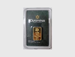 BARRA DE OURO 999 24K 10 GRAMAS - DISPONÍVEL