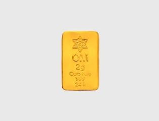 BARRA DE OURO 999 24K 2 GRAMAS - disponível