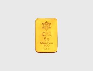 BARRA DE OURO 999 24K 5 GRAMAS - disponível